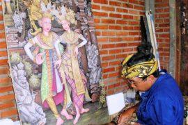 ubud batuan village painting